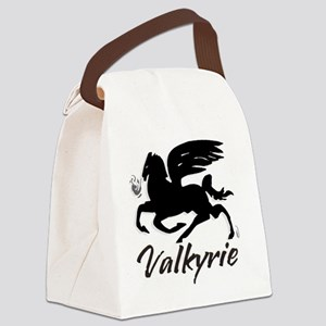VALKYRIE_new_font_NEG_02 Canvas Lunch Bag