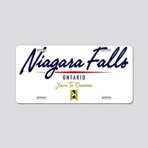 Niagara Falls Script W Aluminum License Plate