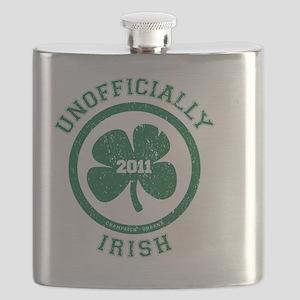 UnofficiallyIrish_shirt_green Flask