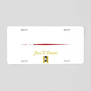 Niagara Falls Script B Aluminum License Plate