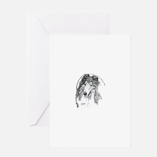 Rough Collie sable Greeting Cards