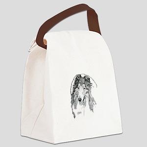 Rough Collie sable Canvas Lunch Bag