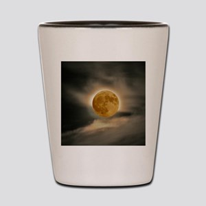 small MOON poster Shot Glass