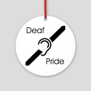 Deaf Pride Ornament (Round)