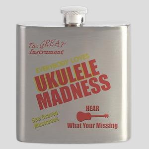 funny ukulele madness uke design Flask