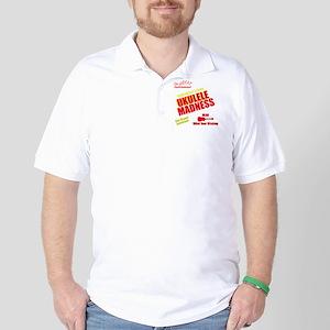funny ukulele madness uke design Golf Shirt