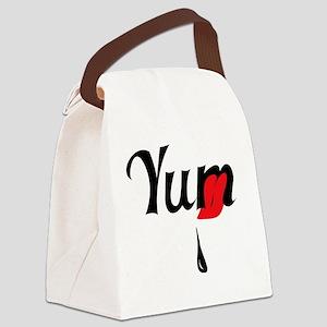 YumTeeCafePressBlackRed Canvas Lunch Bag