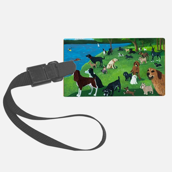 Sunday in the Park card Luggage Tag