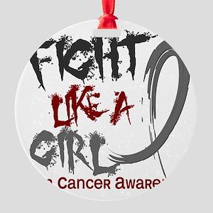 Brain Cancer Round Ornament