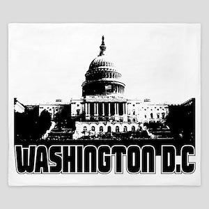 Washington DC Skyline King Duvet