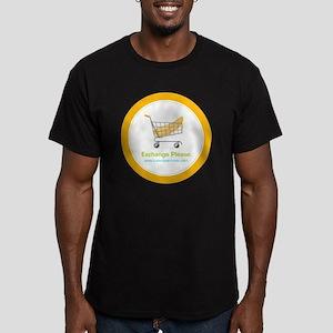 exchange_please_022011 Men's Fitted T-Shirt (dark)