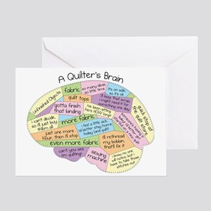 Quilters Brain2 Greeting Card