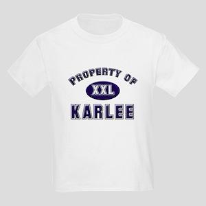 Property of karlee Kids T-Shirt