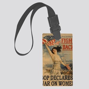 fight back notecard Large Luggage Tag