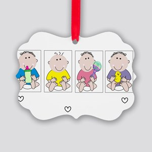 Nicu Nurse 4 babies DARK Picture Ornament
