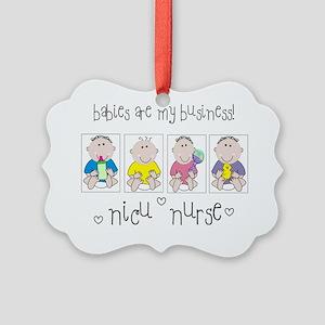 NICU NURSE 4 Babies Picture Ornament