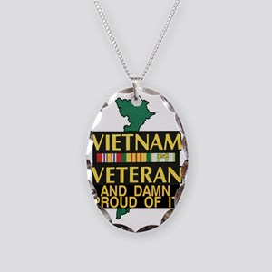 PROUD VIET VET Necklace Oval Charm