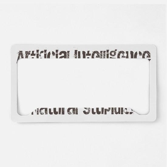 artiicial intelligence License Plate Holder