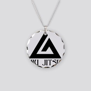 Jiu Jitsu Necklace Circle Charm