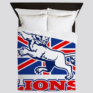 British Lion rugby  attacking  union j Queen Duvet