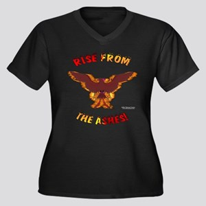 Phoenix Afire Women's Pls Size V-Neck Dark T-Shirt