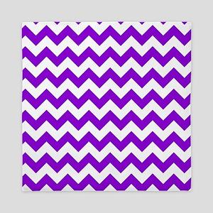 Purple Chevron Pattern Queen Duvet