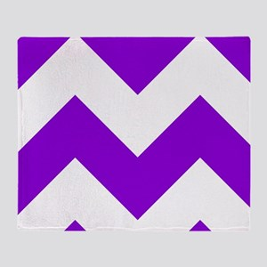 Purple Chevron Pattern Throw Blanket