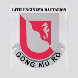 DUI-14 ENG. BN WITH TEXT Throw Blanket