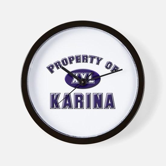 Property of karina Wall Clock