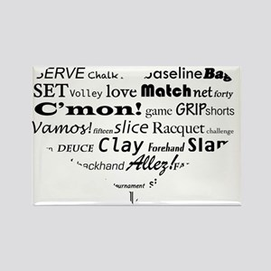 tennis-words-heart Rectangle Magnet