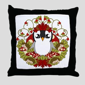 Fallguin Throw Pillow