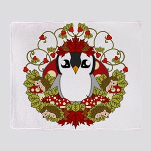 Fallguin Throw Blanket