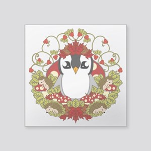 "Fallguin Square Sticker 3"" x 3"""