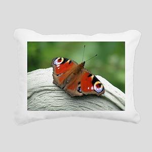 Peacock Butterfly Rectangular Canvas Pillow