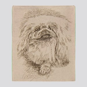 Pekingese_KlineSq Throw Blanket