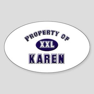 Property of karen Oval Sticker