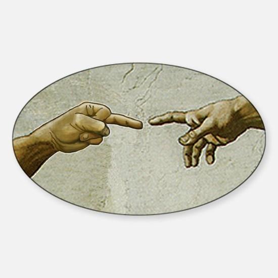 AdamFlips-offGod Sticker (Oval)