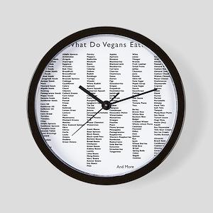 veganseat4 Wall Clock