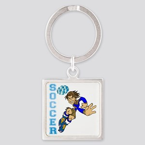 Soccer Player Square Keychain