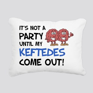 Party Keftedes Come Out Rectangular Canvas Pillow