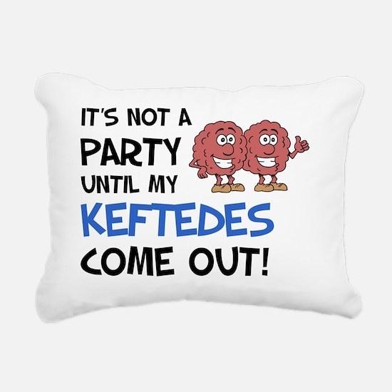 Party Keftedes Come Out Rectangular Canvas Pillow