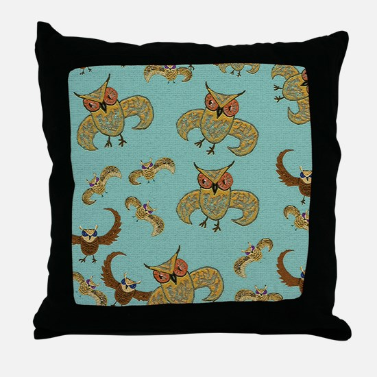 WhimsicOwls Craquelaire Throw Pillow