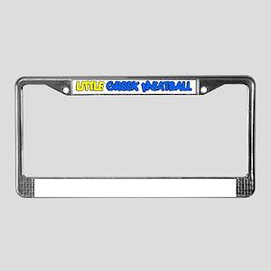 Little Greek Meatball License Plate Frame