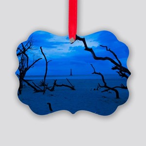 Folly Blue Picture Ornament