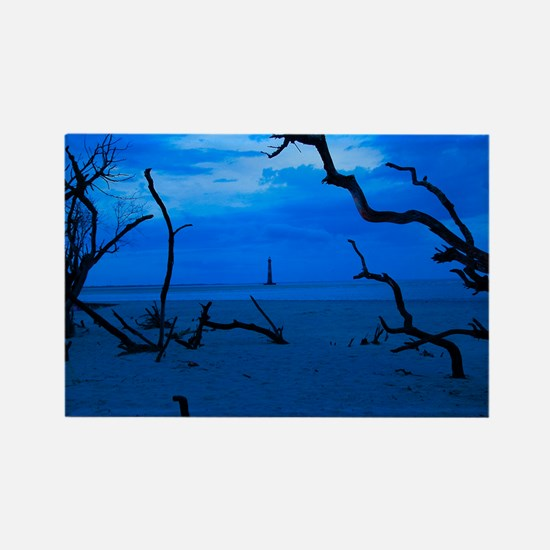 Folly Blue Rectangle Magnet