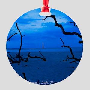 Folly Blue Round Ornament