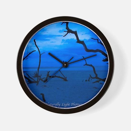Folly Blue Wall Clock