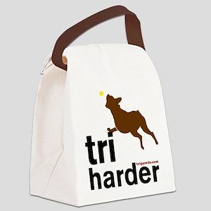 Tri Harder Three Legged Boxer Canvas Lunch Bag