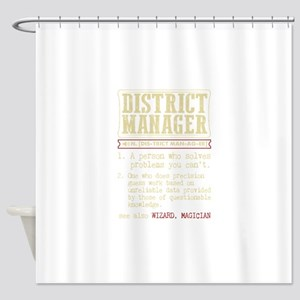 District Manager Funny Dictionary T Shower Curtain