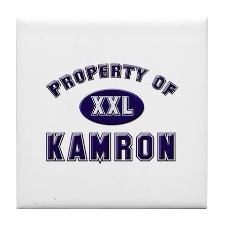 Property of kamron Tile Coaster